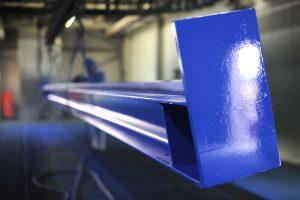 lackierte Stahlbaukomponente